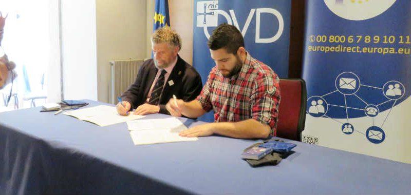 El Ayuntamiento de Oviedo y la FACC reeditan su colaboración en Europe Direct Asturias